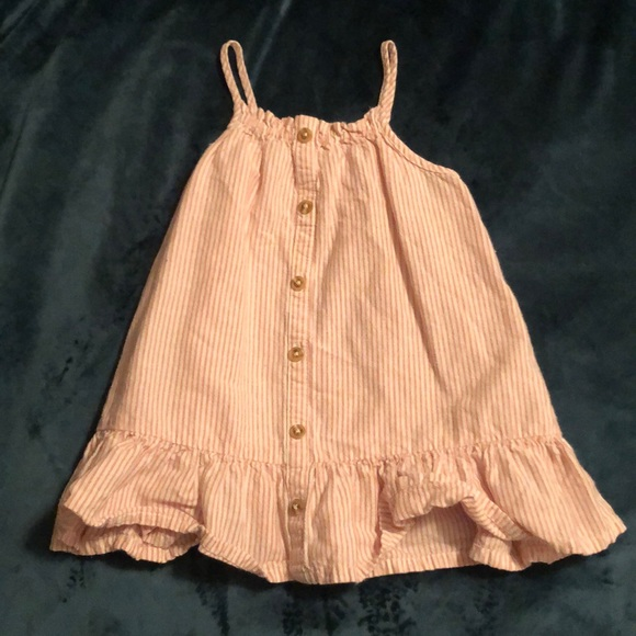 Old Navy Other - Cream & Pink Ruffle Summer Dress